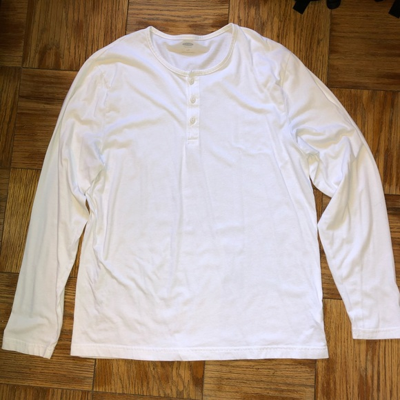 Old Navy Other - White long sleeve henley shirt